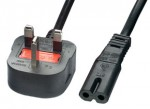 Mains Power Lead 3A Figure of Eight 2m