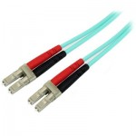 StarTech.com Aqua OM4 Duplex Multimode Fiber Optic Cable - 100 Gb - 50/125 - LSZH - LC/LC - 2 m