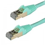 StarTech.com Cat6a Ethernet Cable - Shielded (STP) - 2 m, Aqua