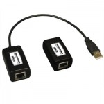 Tripp Lite 1-Port USB over Cat5/Cat6 Extender, Transmitter and Receiver, up to 45 m (150-ft.)