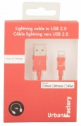 Urban Factory Cable USB to Lightning MFI certified - Red 1m (retail packaging)