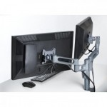 "Kensington K60273WW 24"" Clamp Titanium flat panel desk mount"