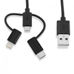 V7 3-in-1 Lightning / Micro/USB-C USB Cable