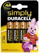 Duracell Simply AA 4 Pack Alkaline 1.5V non-rechargeable battery