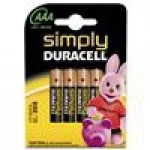 Duracell Simply AAA 4 Pack Alkaline non-rechargeable battery