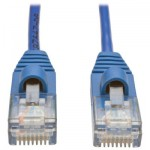 Tripp Lite RJ45-RJ45, m-m, 1.52m 1.52m Cat5e U/UTP (UTP) Blue, Transparent networking cable