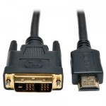 Tripp Lite HDMI to DVI Cable, Digital Monitor Adapter Cable (HDMI to DVI-D M/M), 0.91 m (3-ft.)