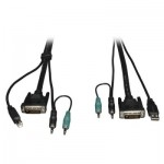 Tripp Lite DVI / USB / Audio KVM Cable Kit, 1.83 m (6-ft.)