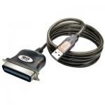 Tripp Lite USB to Parallel Printer Cable (USB-A to Centronics 36 M/M), 3.05 m