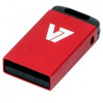 V7 Nano USB 2.0 Flash Drive 4GB Red