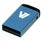V7 Nano USB 2.0 Flash Drive 8GB Blue