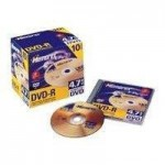 Memorex DVD-R/4.7GB 2xspeed media inJewel Cases - 5 pack